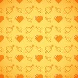 Romantisk modell för älskvärd hjärta seamless vektor för bakgrund Fotografering för Bildbyråer