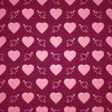 Romantisk modell för älskvärd hjärta seamless vektor för bakgrund Arkivbilder