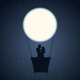 Romantisk natt Arkivfoton
