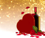 Romantisk ordning för valentin Royaltyfria Bilder