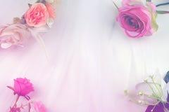 Romantisk pastellfärgad bakgrund för bröllop royaltyfri bild