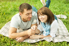 Romantisk picknick Royaltyfri Fotografi