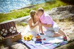 Romantisk picknick Arkivfoton
