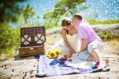 Romantisk picknick Arkivbilder