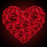 Romantisk röd roshjärta för poly stil för valentindag lågt Fotografering för Bildbyråer