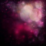 Romantisk rosa bokehbakgrund Royaltyfria Bilder