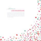 Romantisk rosa färg- och blåtthjärtabakgrund också vektor för coreldrawillustration stock illustrationer