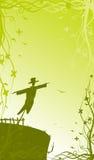 romantisk scarecrow vektor illustrationer