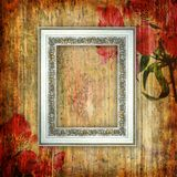 Romantisk scrapbookbakgrund med ramen Royaltyfria Foton