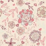 romantisk seamless wallpaper Royaltyfria Foton