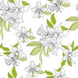 romantisk seamless wallpaper Royaltyfri Foto