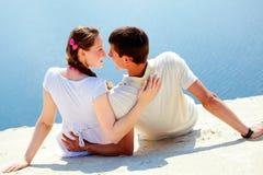 romantisk semester Arkivbilder