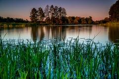 Romantisk sjö och flod Royaltyfri Fotografi