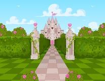 Romantisk slott vektor illustrationer