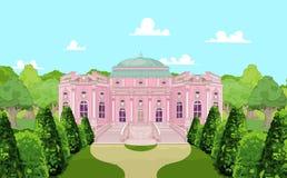 Romantisk slott för en prinsessa stock illustrationer