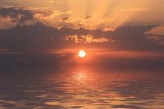 romantisk solnedgång Fotografering för Bildbyråer