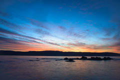 Romantisk solnedgång Royaltyfri Foto
