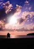 romantisk solnedgång Royaltyfri Fotografi