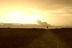 romantisk soluppgång Fotografering för Bildbyråer