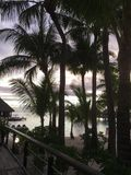 Romantisk strand Fotografering för Bildbyråer