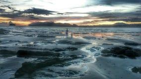Romantisk strand Arkivfoto