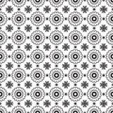 Romantisk svartvit monokrom blommar den grafiska modellen Fotografering för Bildbyråer