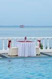 romantisk tabell Arkivfoton
