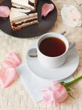 romantisk tea Royaltyfri Bild