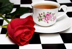 romantisk tea Arkivfoto