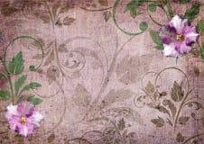 Romantisk violett scrapbookbakgrund Royaltyfria Foton