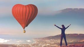 Romantisk vykorttur på dag för valentin` s lager videofilmer