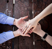 Romantiska händer Royaltyfria Foton
