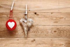 Romantiska lantliga valentiner som greeting Arkivfoto