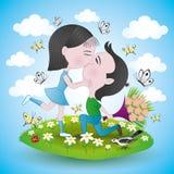 Romantiska par Fotografering för Bildbyråer