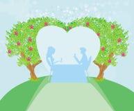 Romantiska par Arkivfoto