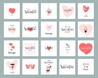 Romantiska samlingskort Arkivbild