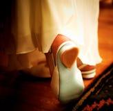 romantiska skor royaltyfria bilder
