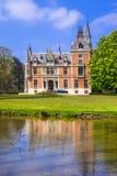 romantiska slottar av Belgien Arkivfoto