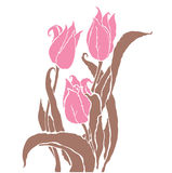 Romantiska tulpan Royaltyfri Bild