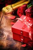 Romantiska valentin inställning Arkivbild