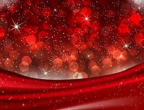 Romantiska Valentine Red Bokeh tänder elegant förälskelsebakgrund Royaltyfria Bilder
