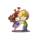 Romantiska valentinpar som tar ett foto Arkivfoton