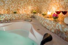 Romantiskt bad för afton Arkivbild
