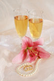 romantiskt bröllop Fotografering för Bildbyråer