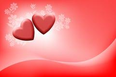 Romantiskt förälskelsebegreppskort Arkivfoto