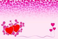Romantiskt förälskelsebegreppskort Arkivbild