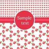 Romantiskt hälsningskort Arkivbilder