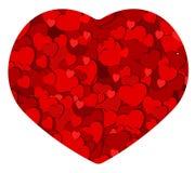 Romantiskt hjärtakort stock illustrationer