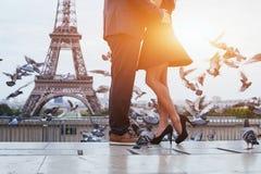 Romantiskt lopp till Paris Arkivfoto