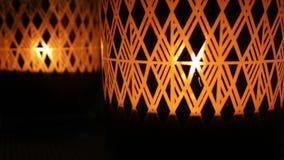 Romantiskt och emotionellt dekorativt överraskningstearinljusljus lager videofilmer